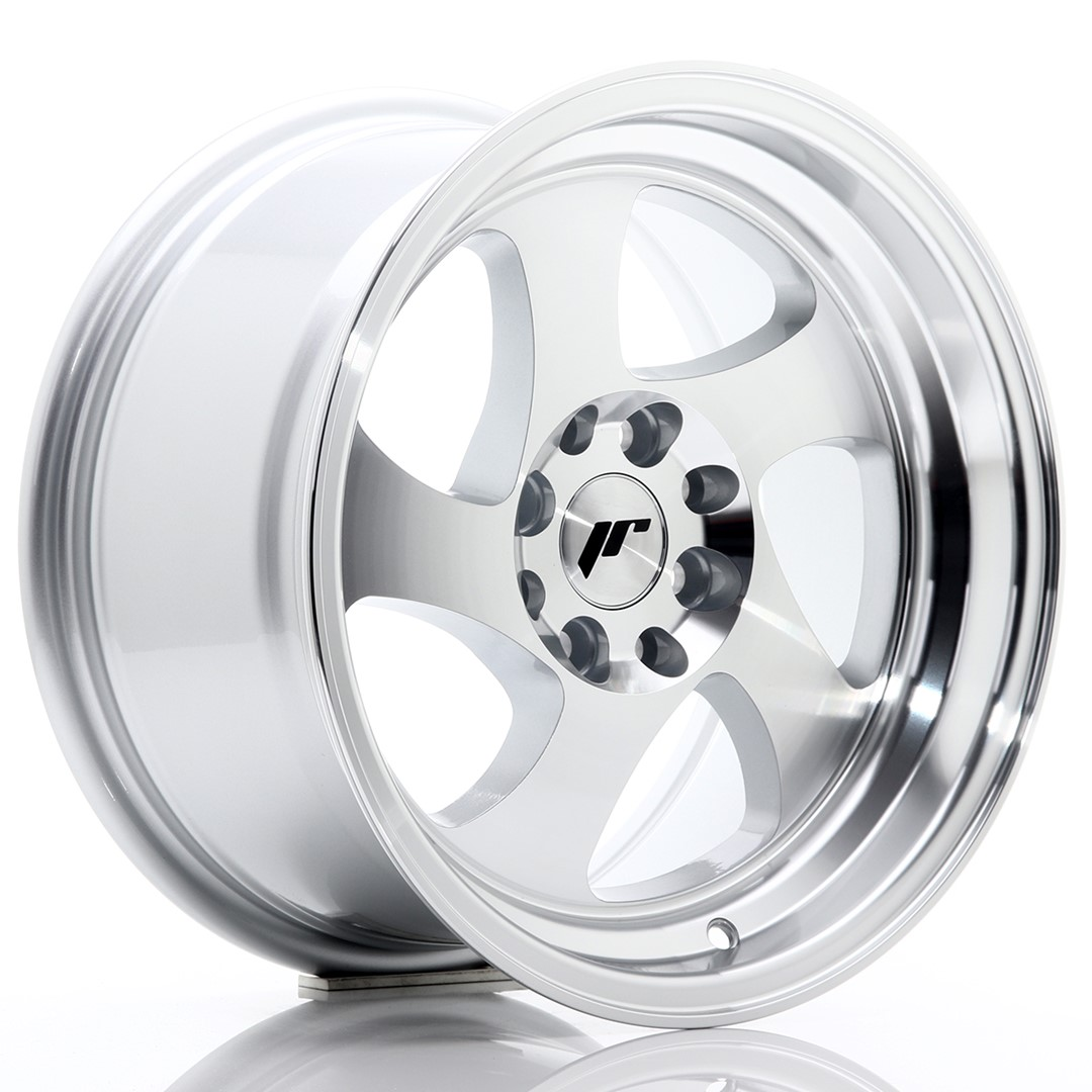 JAPAN RACING JR15 hliníkové disky 8x15 4x100/108 ET20 Machined Face Silver