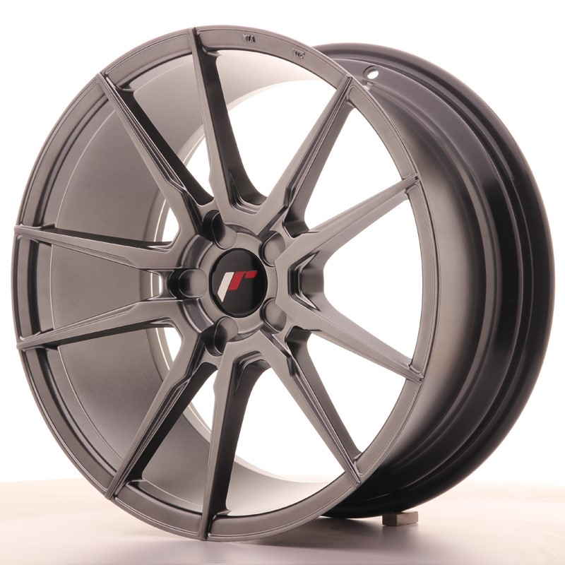 Cerchio Japan Racing Jr21 18X8,5 Et20-40 5H Blank Hiper Bl
