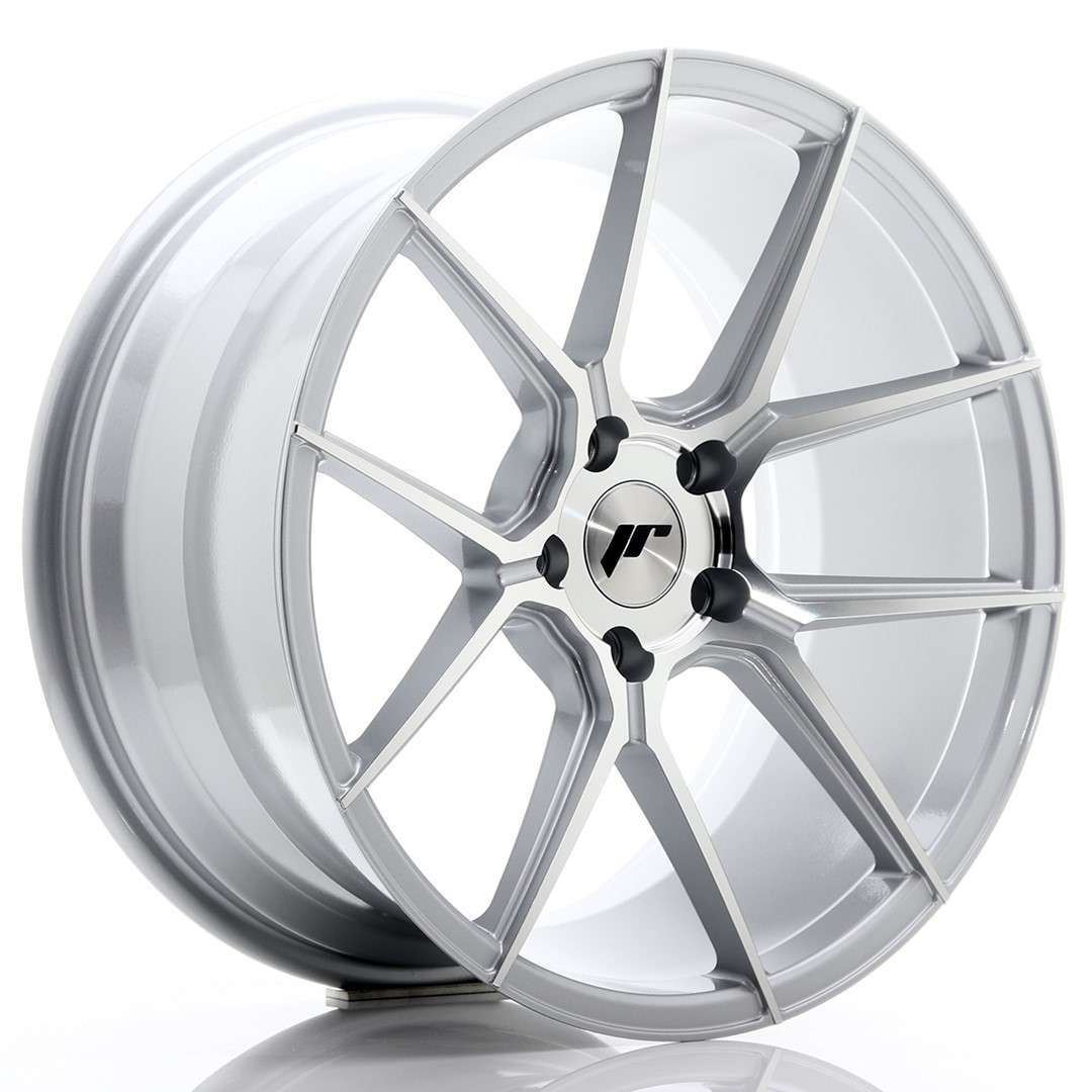JAPAN RACING JR30 hliníkové disky 9,5x19 5x120 ET40 Machined Face Silver