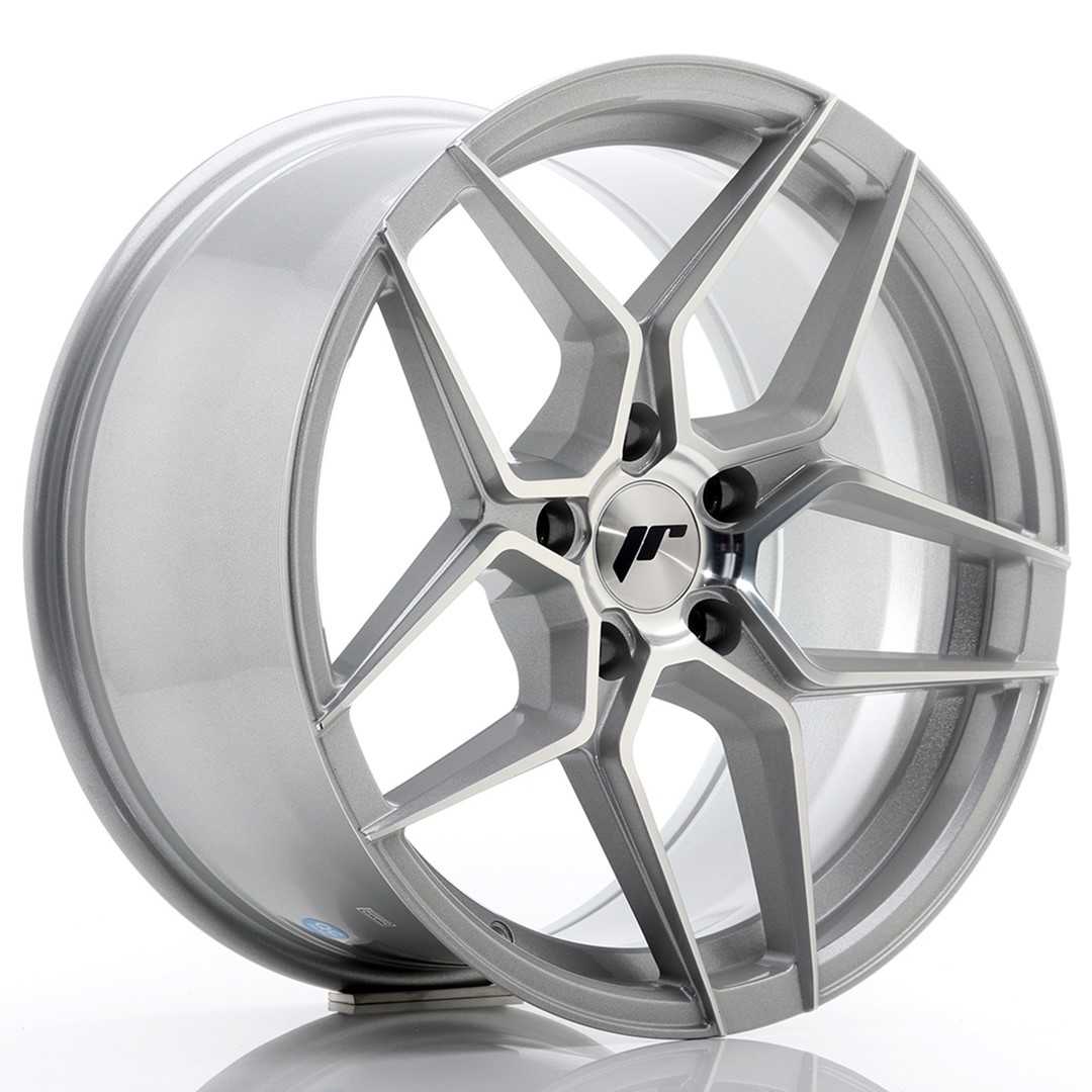 JAPAN RACING JR34 hliníkové disky 9x18 5x120 ET35 Machined Face Silver